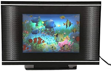 Lightahead LCD Black Screen Aquarium Lamp Artificial Sensory Aquarium Virtual Ocean in Motion(Fish)