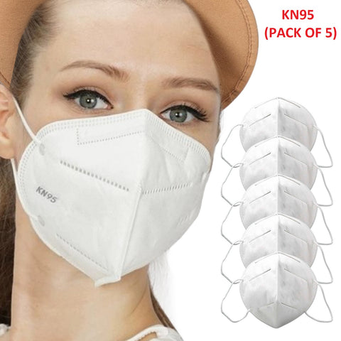 Lightahead KN95 4-Layer Mouth Surgical Face Mask for Germ Virus Pollution PM2.5 Protection-5 Masks