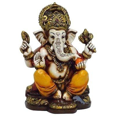 Lightahead Lord Ganesh Colored Porcelain Statue