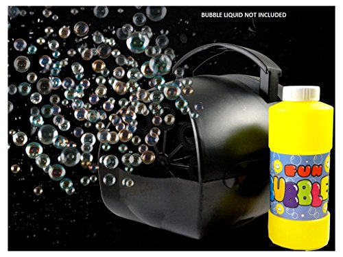 Lightahead Portable Hubble Bubble Blowing Machine Bubble Maker with Battery or Adapter for Indoors & Outdoors Parties & Disco