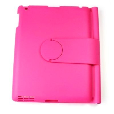 Lightahead 360 Degrees Rotating Sliding Cover Case with Sliding & Adjustable Bluetooth Wireless Keyboard for Ipad 2 & 3 (pink)