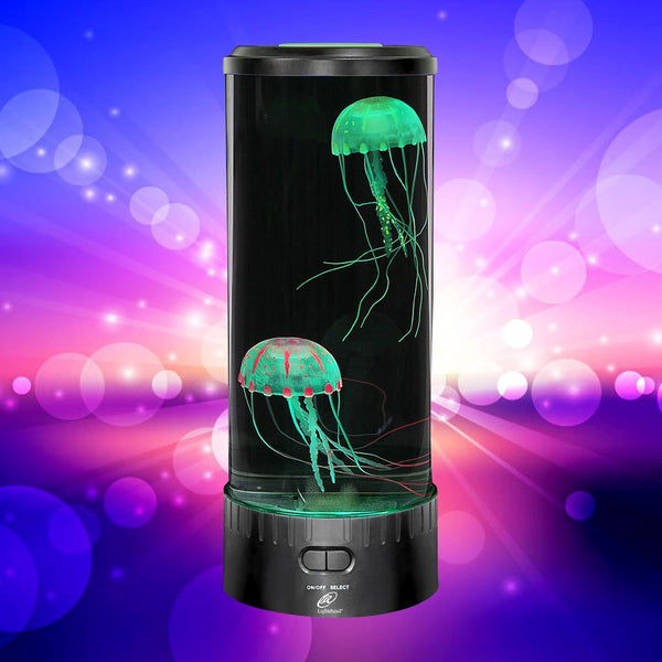 Lightahead LED Fantasy Jellyfish Aquarium Lamp Round, 7 color changing Light effects with remote control.