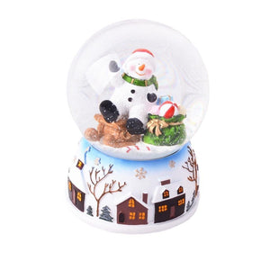 Lightahead Polyresin Musical Christmas Snow Globe with Falling snowflakes & music playing (SnowMan)