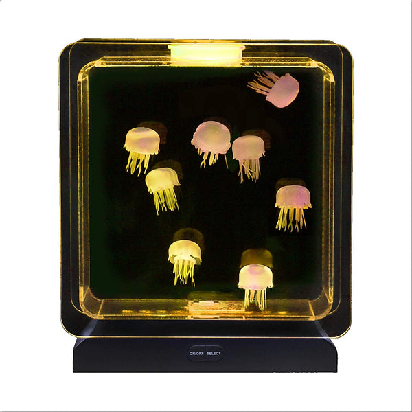 Lightahead Illuminated Artificial Jellyfish Aquarium Mood Lamp with 30 LEDs, 5 color changing light effects Fish Tank Aquarium for Home Decoration, Gift
