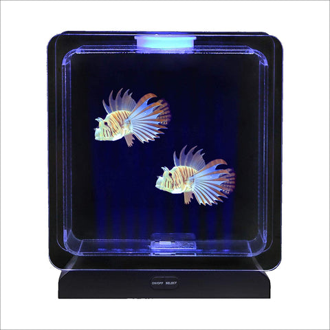 Lightahead Illuminated Lion fish Mood Lamp with 30 LEDs, 5 color changing light effects Lion Fish Tank Aquarium for home decoration, gift