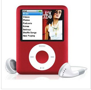 "Lightahead 3rd GEN 1.8"" LCD MP3 MP4 Player with Built-in 8GB Flash Memory FM Radio Video Player (RED)"