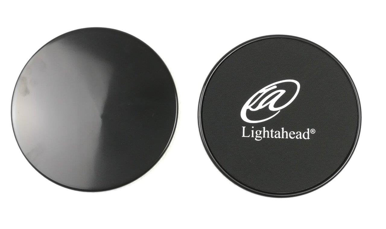 Lightahead®Core Sliders: Set of 2 Dual Sided Exercise Disc for Enhancing Coordination of Body(BLACK)