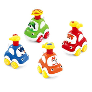 Lightahead Fun Animal Pressure Cars Press and Play Vehicles for Toddlers, Set of 8
