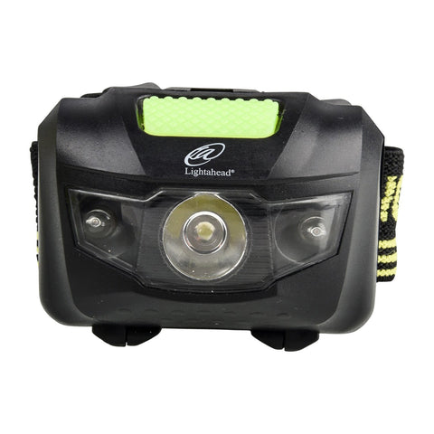 Lightahead LED Bright Headlamp Lightweight Waterproof, Hands free, Adjustable 200 Lumen Flashlight