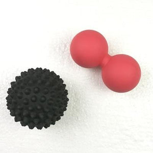 Lightahead Red Peanut Double Massage Ball and Black Spiky Massage Ball