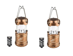 Lightahead Set of 2 Portable Outdoor LED Camping Lantern Equipment with Battery (Brown)