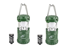 Lightahead Set of 2 Portable Outdoor LED Camping Lantern Equipment with Battery (Green)