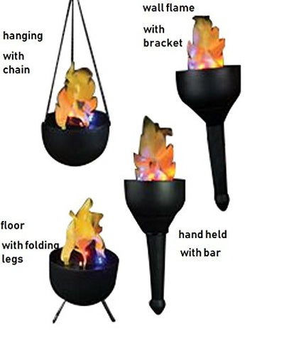 Lightahead Portable 4 in1 Artificial Flame Tikki Torch, Wall, Hanging & Floor Mode
