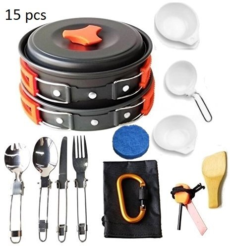 Portable Frying Pot Outdoor Camping Pot Cookware Stainless Steel Frying Pan