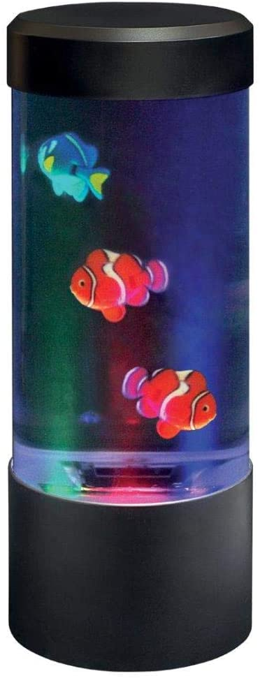 Lightahead LED Mini Desktop Fish Aquarium Lamp, Color Changing Light Effect Sensory Fish Tank Lamp