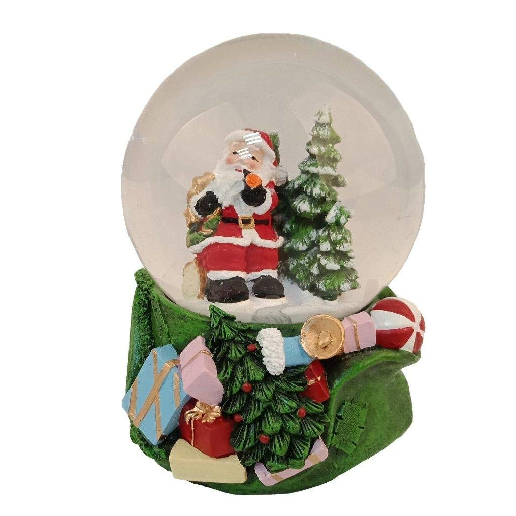 Lightahead Musical Christmas Santa Water Snow Globe with music 100 MM in Polyresin