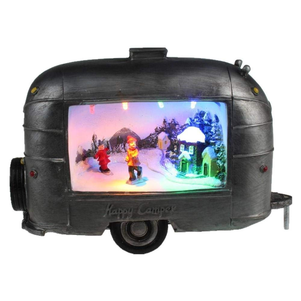 Lightahead Christmas Scene Inside Trailer A Multi Colored LED Lighted Musical with 8 melodies