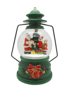 Lightahead 100MM Snow Globe Lantern Water ball with LED Lights and Music playing Table for Christmas (Santa)