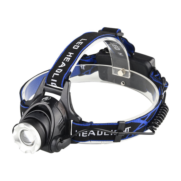 Lightahead LED Super Bright Headlamp,3 modes Zoomable Head,Hat,Cap Helmet light Rechargeable Battery