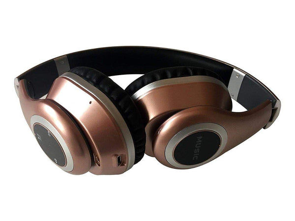 Voltz Bluetooth Wireless Headphones. Over Ear for Stereo Beats. Best for iPhone,TV, Sport,Workout, Running. Foldable and Adustable Headband. Active Noise Reduction (Rose Gold) Marketed by Lightahead