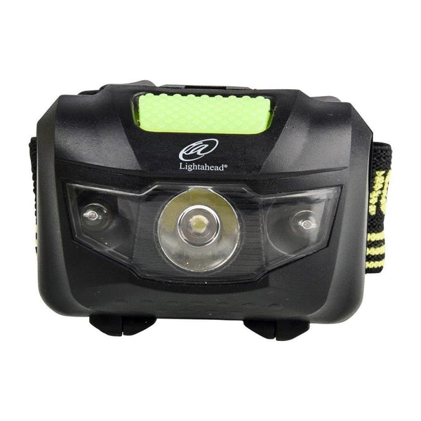 Lightahead Pack of 2 Headlamps, Bright 200 lumen LED Headlight, Lightweight, Waterproof, Hands free