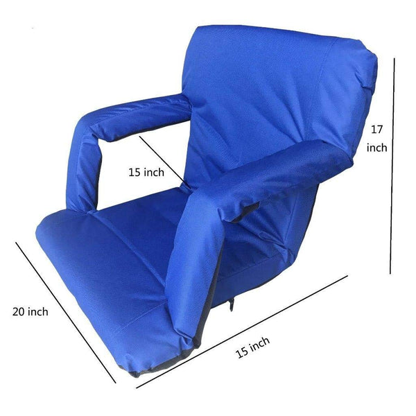 Lightahead Folding Chairs for Stadium Bleachers & Benches .Back & Arm Rest Padded Cushion Portable Floor Seats for Picnic,Meditation,TV,Ball Park,Games
