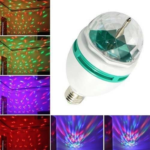 Lightahead LA005 Rotating LED Strobe Bulb Multi changing Color Crystal Stage Light (Set of 4)