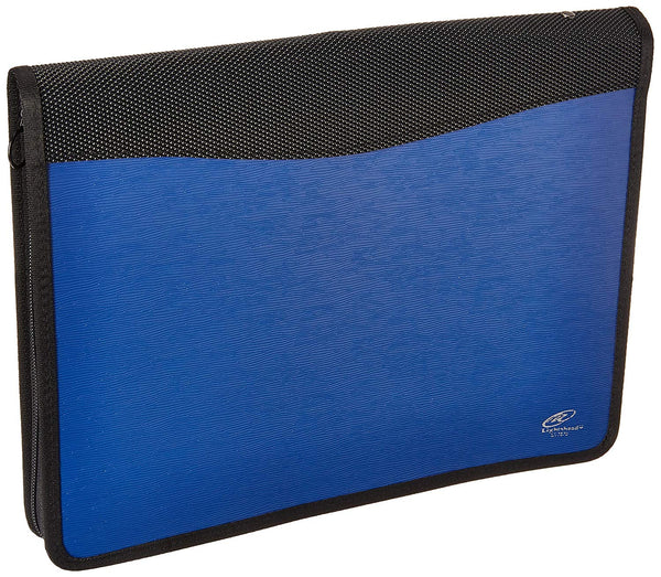 Lightahead LA-7570 Multipurpose Bag Expanding File Folder with 13 pockets zipper Color Blue