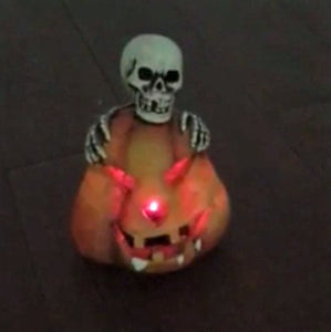 Lightahead Solar Powered Skeleton Pumpkin light Halloween Decoration Light Outdoor Garden Light Multi-Color Changing Skull