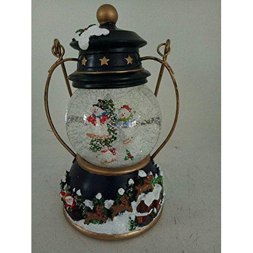 Lightahead 80MM Christmas Snow Globe Water Lantern with Falling Snowflake, Music playing (SnowMan)