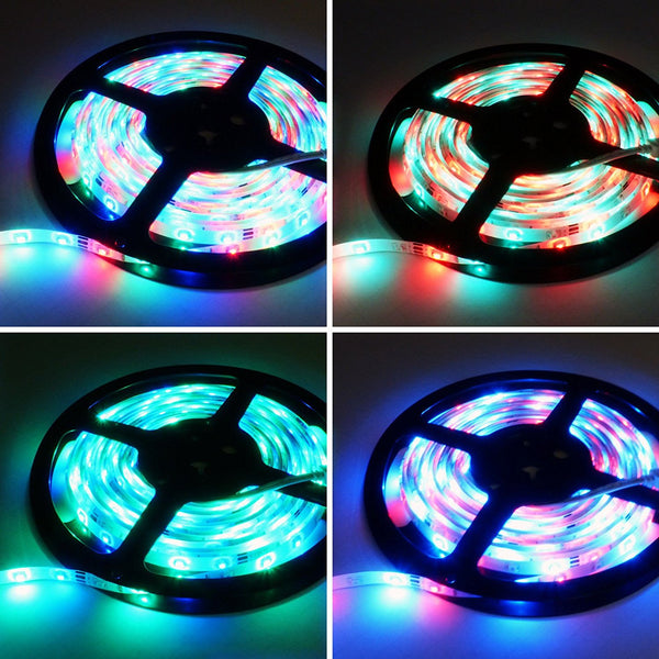 Lightahead 16.4 feet 5 Meter IP65 Waterproof Flexible strip Light roll 300 Leds Color Changing RGB