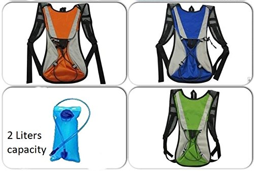 Lightahead 2L Hydration Backpack with Water Rucksack Bladder Bag for Hiking Cycling Camping (BLUE)