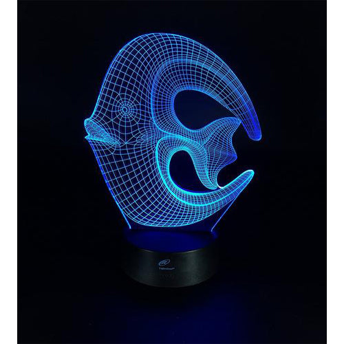 Lightahead Amazing 3D Optical Illusion Touch Night Light LED Desk Lamp Art Piece with 7 changing Colors, USB Powered for Decoration & Gifts (Fish)