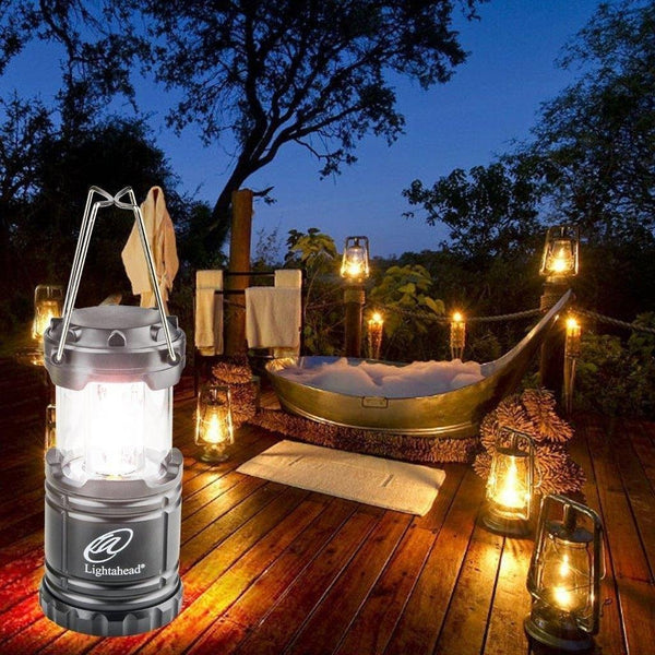 Lightahead Portable Outdoor LED Camping Lantern Equipment - Great for Emergency, Tent Light(Black)