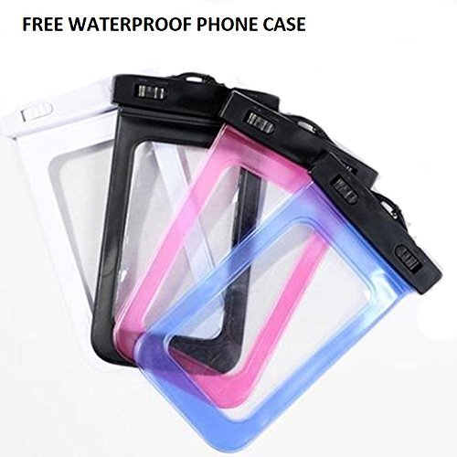 Lightahead Waterproof Dry Bags 10L With Free Waterproof Cellphone Case Kayaking/ Hiking (Black)