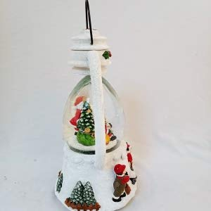 Lightahead Christmas Santa Snow Globe Lantern Water ball with Flying Snow, LED Lights and Music playing