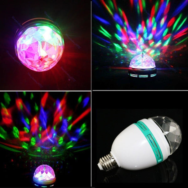 Lightahead LA005 Rotating LED Strobe Bulb Multi changing Color Crystal Stage Light (Set of 2)
