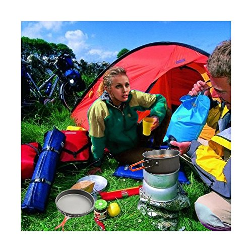 Lightahead 15Pc Camping Cookware Set Mess Kit Lightweight Compact for Camping Hiking Outdoor Cooking