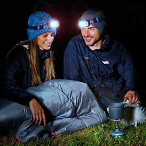 Lightahead LED Headlamp Waterproof Hands free,Adjustable Light with Rechargeable Batteries 800 Lumen