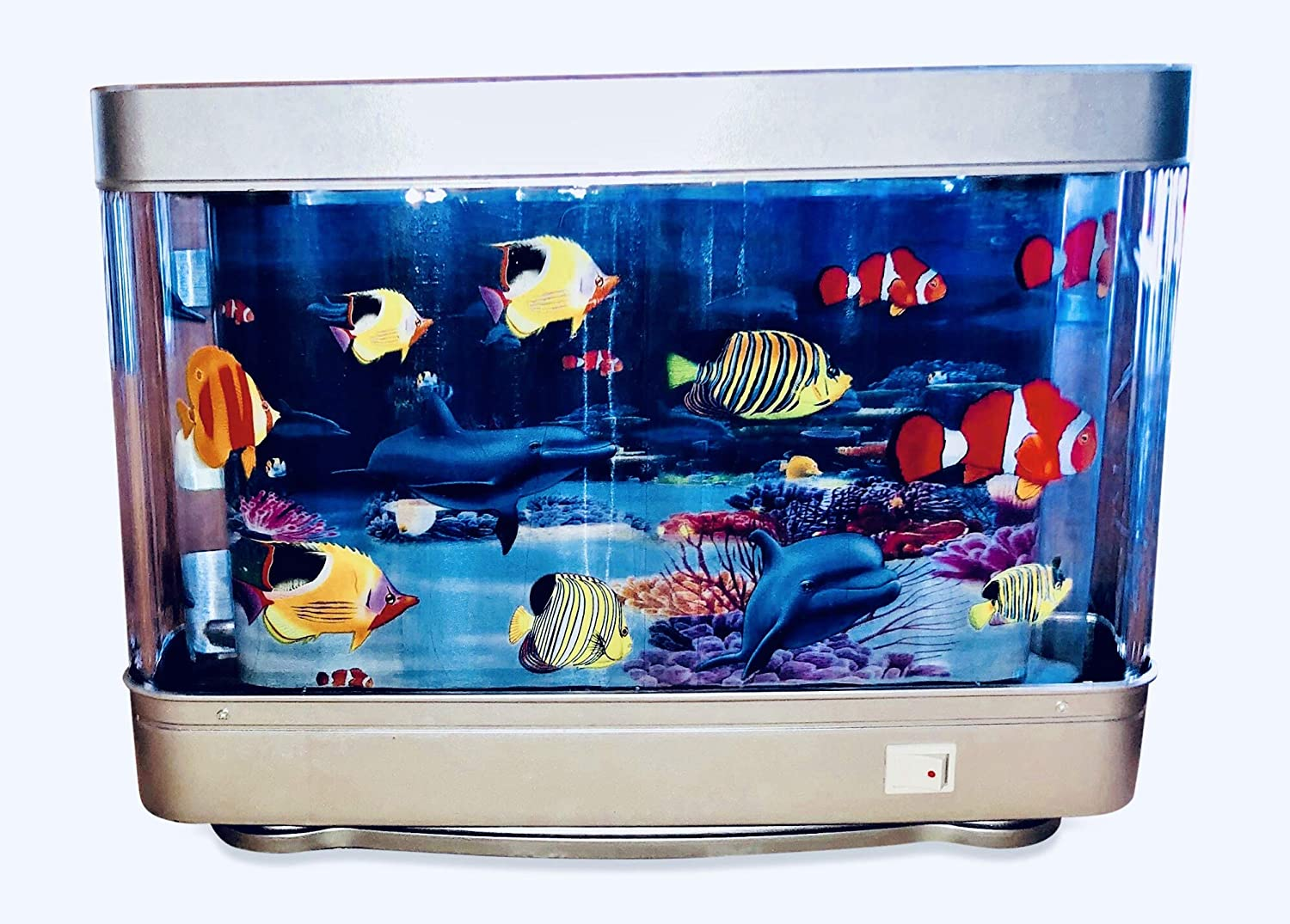 Lightahead Artificial Tropical Fish Aquarium Decorative Lamp Virtual Ocean in Motion(Marine Life B)