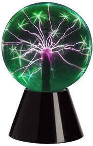 "Lightahead 6"" Plasma Ball Lamp Crystal Green Color Globe Design Touch Sound Sensitive"