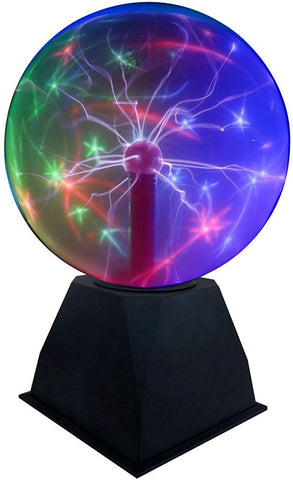 "Lightahead 8"" Crystal Plasma Ball Lamp with Green/Red/Purple/Multi Light Colors Globe Design Touch Sound Sensitive"