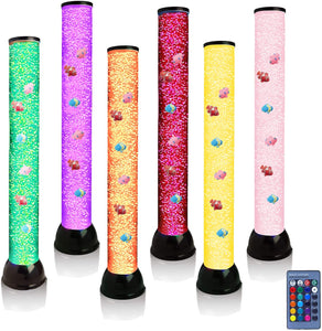 Lightahead Extra Large 32 Inches LED Fantasy Bubble Fish Tube Fake Aquarium with 7 Color Light Effects & Remote Control. The Ultimate Sensory Lamp.