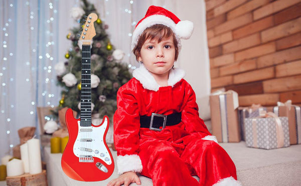 Lightahead Electronic Guitar with Sound and Lights 26 inch Guitar With Preset Music And Vibrant Sounds Fun Musical Guitar (Red)