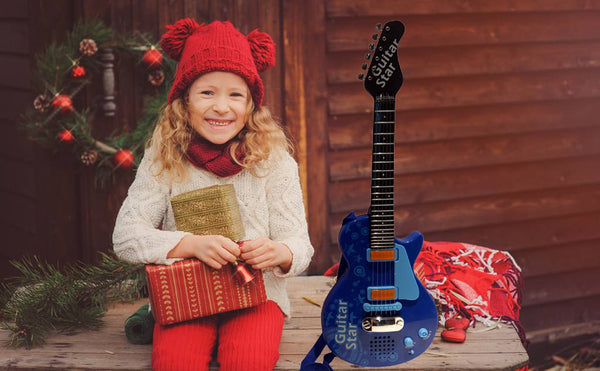 Lightahead Sound Music and Light Fun Junior Guitar for Kids & beginners Great Gift Blue (Gui5862C)
