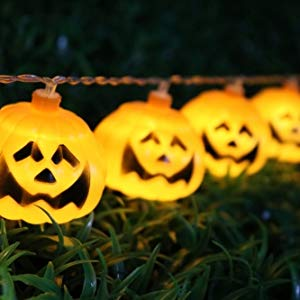 Lightahead 2M 20 LEDS Pumpkin Shape LED String Light with Dual Mode for Halloween Holidays Party