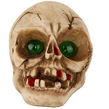 Lightahead Solar Powered Halloween Skull Decoration Light Outdoor Multi-Color Changing Garden Lamp