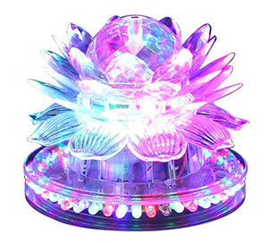 Lightahead RGB Rotating LED Sunflower Disco Bulb Lotus shape Light Multi color Stage with Rotating function for Disco party club bar DJ