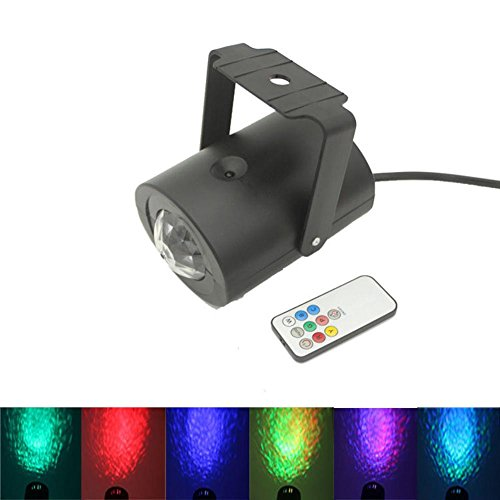 Lightahead LED RGB Water Effect Light with remote in plastic shell Remote controlled Water Wave Ripple Effect Projector Stage Lighting for Wedding Home Party Concert
