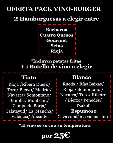 Packs Oferta domicilio hamburguesas